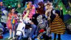 Ryan Tubridy and some helpers on the the Late Late Toy Show. Photograph: RTE