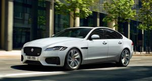 Jaguar's XF has an interior that looks a feels a touch cheaper than what you'd get in, say, an Audi