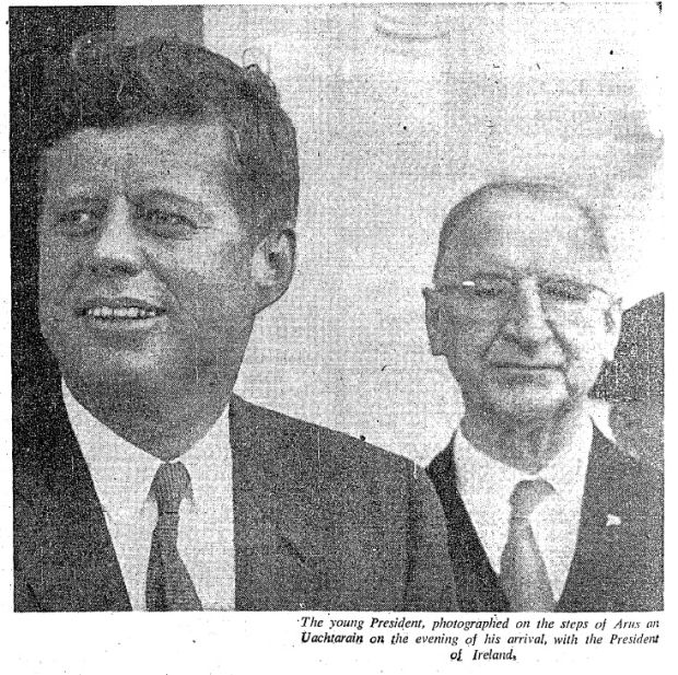JFK and de Valera on the evening of the US president's arrival