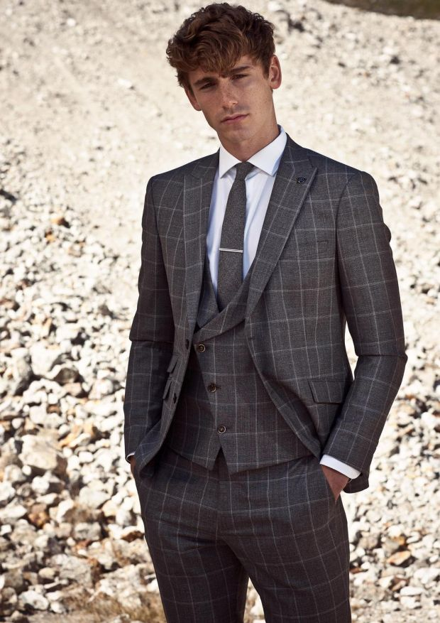 Three piece check suit by Benetti 279 visit www.benetti.ie