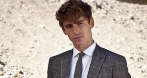 Three piece check suit by Benetti 279