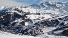 The buildings of Plagne Centre and village of Plagne 1800 in the French Alps: the La Plagne region features 11 villages and accessibility between places is good.