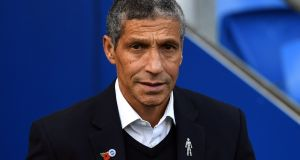 Brighton manager Chris Hughton has ruled himself out of the Ireland job. Photograph:   Simon Galloway/PA Wire