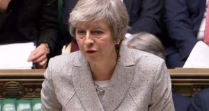"British prime minister Theresa May. ""The DUP has set the bar high, but May  reached for it, albeit implausibly."" Photograph: AFP/Getty Images"