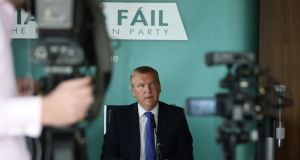 "Fianna Fáil finance spokesman Michael McGrath: ""The people won't be fooled because they know Fine Gael has form in making grandiose tax promises before elections and then dropping them afterwards.""  Photograph: Nick Bradshaw"