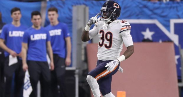 size 40 2141f bf806 Eddie Jackson's interception return helps Bears take down Lions