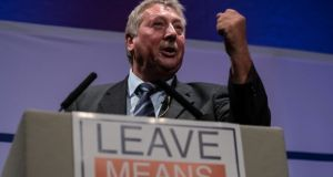 DUP Brexit spokesman Sammy Wilson. File photograph: Matt Cardy/Getty Images.