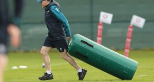 Ireland head coach Joe Schmidt during a training session at Carton House. Photograph: Billy Stickland/Inpho