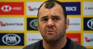 Michael Cheika's Australia team face England on Saturday. Photograph: Dan Mullan/Getty Images
