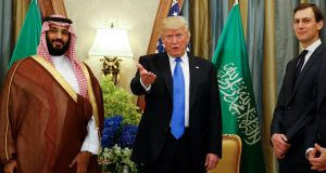 US president Donald Trumpn meets with Saudi Arabia's crown prince Mohammed bin Salman in Riyadh last year.