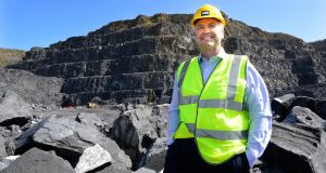 CRH chief executive Albert Manifold in the Roadstone Cement Quarry in Dublin. The company's share price has been battered in recent months. Photograph: Cyril Byrne