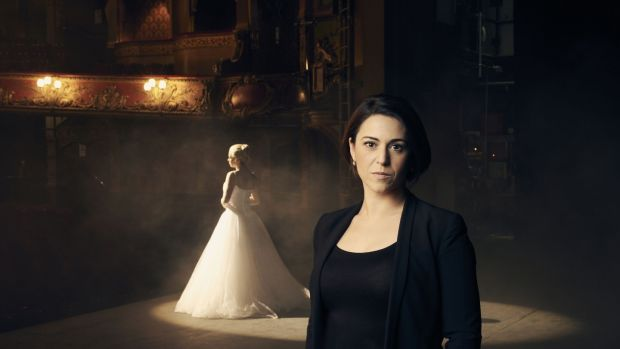 Evita: The Making of a Superstar: Emma Hatton on stage as Evita, Suzie Klein Suzy Klein. Photograph: Rory Mulvey/BBC