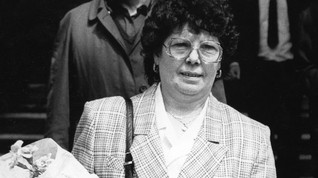 Annie Maguire leaving the Court of Appeal in London in May 1991.Photograph: Eric Luke