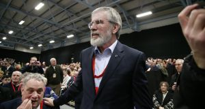 Sinn Féin's Gerry Adams at the party ard fheis last February.  Photograph: Nick Bradshaw