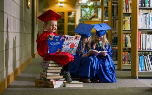READ A BOOK: Pictured at the library at Waterford Institute of Technology are Diarmaid Shortall (3) with Ava (3) and her sister Anna Pierce (7) who are catching up on a little reading for Library Week. Library Ireland Week takes place from November 26th to December 2nd. The week, which is organised by the Library Association of Ireland, raises the profile of libraries and information service professionals and showcases their resources, facilities, events and services through dedicated programmes and events. For more information on Library Ireland Week 2018 visit libraryirelandweek.ie. Photograph: Patrick Browne