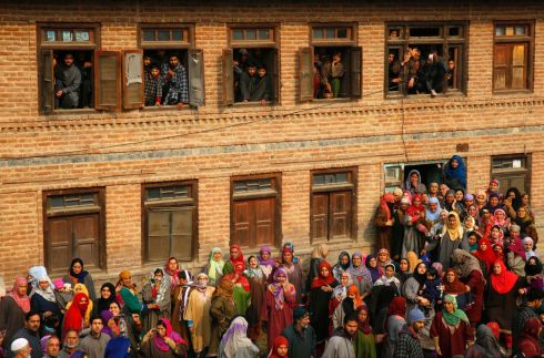 SLAIN MILITANT: Kashmiri Muslims attend the funeral procession of slain militant Shahid Bashir at the village of Kawani some 40km south of Srinagar, the summer capital of Indian Kashmir on November 23rd. According to reports, Senior Lashkar-E-Toiba commander Azad Ahmed Malik, was killed along with five other militants during a gunfight at Shalgund village of Dashnipora in the Bijbehara area, south of Kashmir's Anantnag district.  Photograph: Farooq Khan/EPA