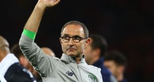 Former Ireland manager Martin O'Neill who on Wednesday stepped down after five years in charge. Photograph: Geoff Caddick/AFP/Getty Images