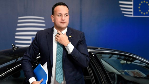 The Taoiseach Leo Varadkar arriving for the EU summit. Photograph: Piroschka van de Wouw/AP