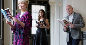 Cecelia Ahern, Holly White	and John Boyne	 at the announcement of the shortlist for the An Post Irish Book Awards 2018