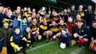 Dr Crokes' players and supporters celebrate after the match. Photograph: Ken Sutton/Inpho