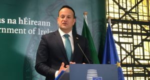 "Taoiseach Leo Varadkar discusses the outcome of the EU Council summit meeting in Brussels. ""Any other deal really only exists in people's imaginations."" Photograph: Michelle Devane/PA Wire"