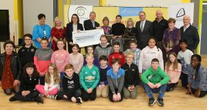 Sixth-class  students from Letterkenny Together national school in Co Donegal who were the national winners of the 2018 Something Fishy competition.