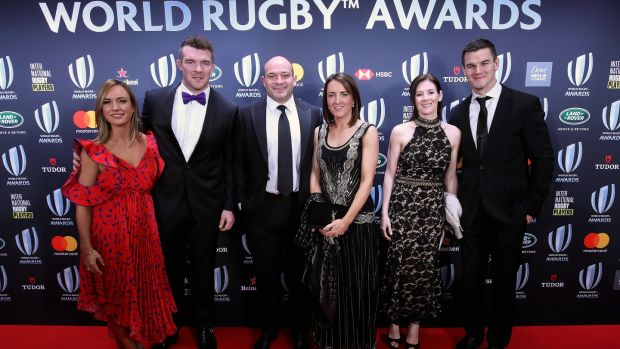 The Irish contingent at World Rugby awards in Monte-Carlo. Photograph: Dan Sheridan/Inpho