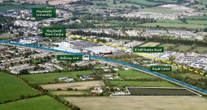 The newly zoned residential site near Maynooth