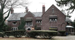 Aretha Franklin's Detroit mansion: the house sold for $300,000, or just under €265,00. Photograph:  AP