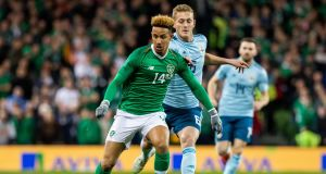 Republic of Ireland's Callum Robinson will be out for at least three month's with a hamstring tear. Photo: Morgan Treacy/Inpho