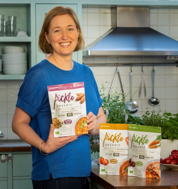 Marianne Dorney with her newly launched Pickle Organic range