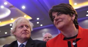 By putting its confidence in a political charlatan like Boris Johnson the DUP under Arlene Foster has shown just how poor its judgment is. Photograph: Clodagh Kilcoyne/Reuters
