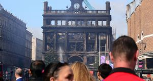 Primark's store in Belfast after the fire.