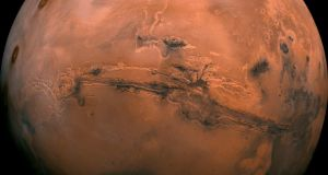 A photo provided by NASA of composite image of Mars. Photograph: NASA/The New York Times