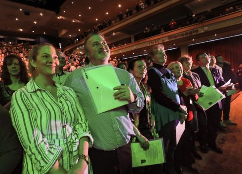 Ireland's newest citizens attending the  citizenship ceremonies which took place in the Killarney Convention Centre on Monday. Photograph: Valerie O'Sullivan
