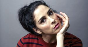 "Sarah Silverman: 'The hypocrisy blows my mind.  What is the difference between saying 'crap' and 'shit'? Yet you have to bleep 'shit'."" Photograph: Brinson+Banks/New York Times"
