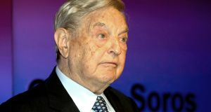 George Soros:  has been  denounced by the Turkish president.   Photograph: Sean Dempsey/PA Wire