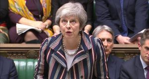 UK prime minister Theresa May faced mainly hostile questions in the House of Commons. Photograph: Parliament TV handout via Reuters