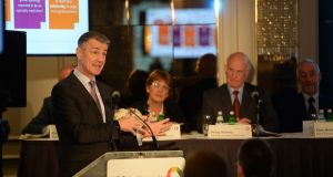 UDG Healthcare chief executive Brendan McAtamney at the company's AGM earlier this year. Photograph: Dara Mac Donaill