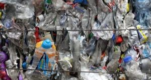 Sixteen per cent of the packaging waste produced in 2018 was plastic. Photograph: Getty Images/File photo
