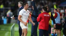 Sam Burgess of England is substituted during the 2015 Rugby World Cup Pool A match between England and Wales at Twickenham. Photo: David Rogers/Getty Images