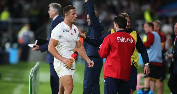 aca05c83e5d Sam Burgess of England is substituted during the 2015 Rugby World Cup Pool  A match between