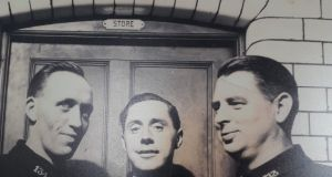 John Deane, on the right,  with two of his colleagues in Tara Street fire station, Dublin,  in the 1950s. 'Our father was a vain man and always prided himself in his appearance.'