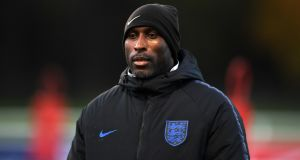 Sol Campbell has taken his first job in management with League Two strugglers Macclesfield Town. Photograph: Gareth Copley/Getty