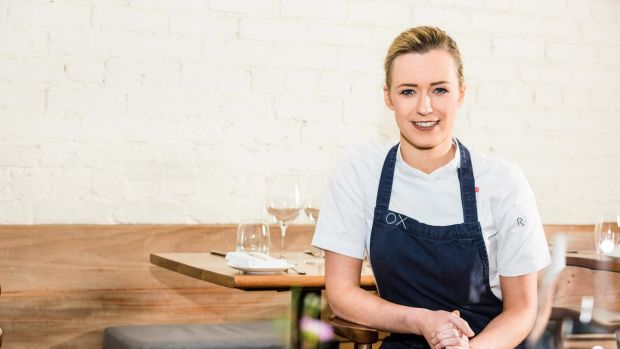 Chef Grainne Mullins at OX Belfast. Photograph: Elaine Hill Photography