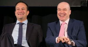 "The outcome of the audit of the broadband process is convenient for the Government in that it concludes that meetings between the former communications minister, Denis Naughten (right, pictured with Taoiseach Leo Varadkar), and the leader of the sole remaining bidding consortium, David McCourt, were a "" cause for concern"", but that the tender process has not been contaminated. Photograph: Sam Boal/Rollingnews.ie"