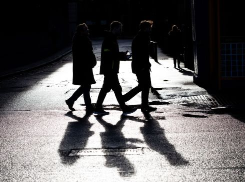 LONG SHADOWS: Pedestrians make their way through Dublin in harsh winter sunlight. Photograph: Tom Honan/The Irish Times