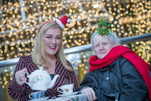 YOU'RE NOT ALONE: Comic Katherine Lynch, with Margaret Browne (83), launch Alone's Christmas campaign, Have a Laugh for Loneliness this Christmas, in the Powerscourt Townhouse Centre in Dublin. Alone is asking people to offer friendship and support to older people living alone this Christmas.