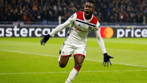 Maxwel Cornet scored twice for Lyon against Manchester City. Photograph: Emmanuel Foudrot/Reuters