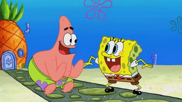 SpongeBob SquarePants: Stephen Hillenburg's best-known character with best friend Patrick. Photograph: Nickelodeon